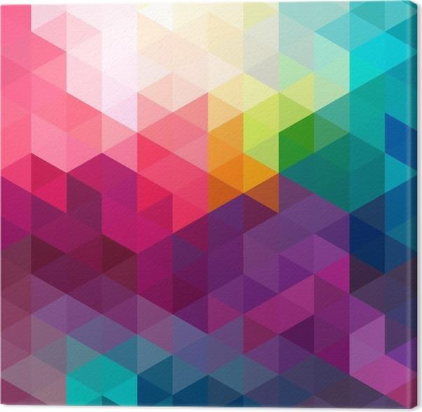 Cuadro en lienzo sin problemas de fondo de colores de fondo pixers vivimos para cambiar - Cuadros de colores ...