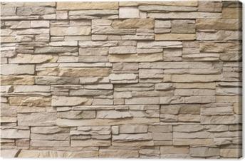 Cuadro en Lienzo Stacked muro de piedra de fondo horizontal
