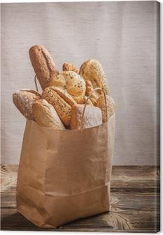 Cuadro en Lienzo Surtido de productos de panadería