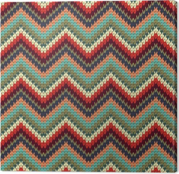 Cuadro en Lienzo Tejer patrón en zigzag sin fisuras. Ilustración del ...