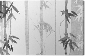 Cuadro en Lienzo Textura de bambú