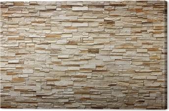 cuadro en lienzo textura de la pared de piedra para el fondo - Pared Piedra