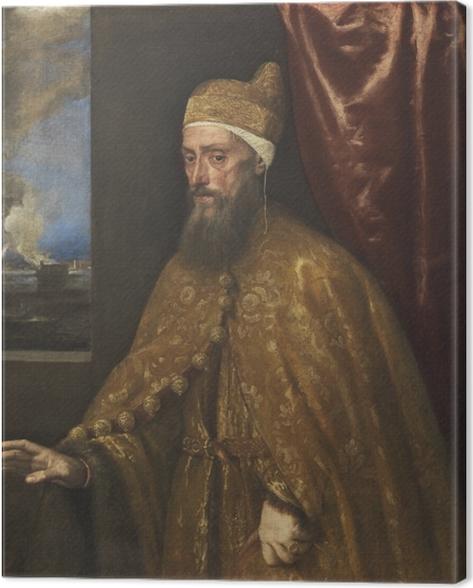 Cuadro en Lienzo Tiziano - Retrato de dux Francesco Venier - Reproducciones