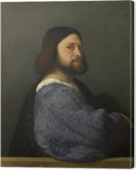 Cuadro en Lienzo Tiziano - Retrato de un hombre - Reproducciones