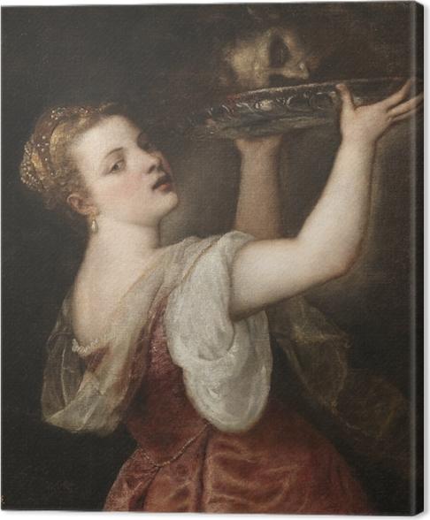 Cuadro en Lienzo Tiziano - Salomé Llevar la cabeza de San Juan Bautista - Reproducciones