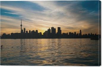 Cuadro en Lienzo Toronto horizonte de la ciudad al atardecer