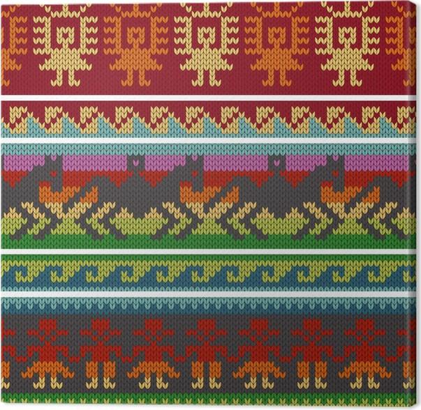 Cuadro en Lienzo Tradicionales patrones que hacen punto andinos ...