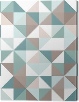 Cuadro en Lienzo Triángulo sin patrón