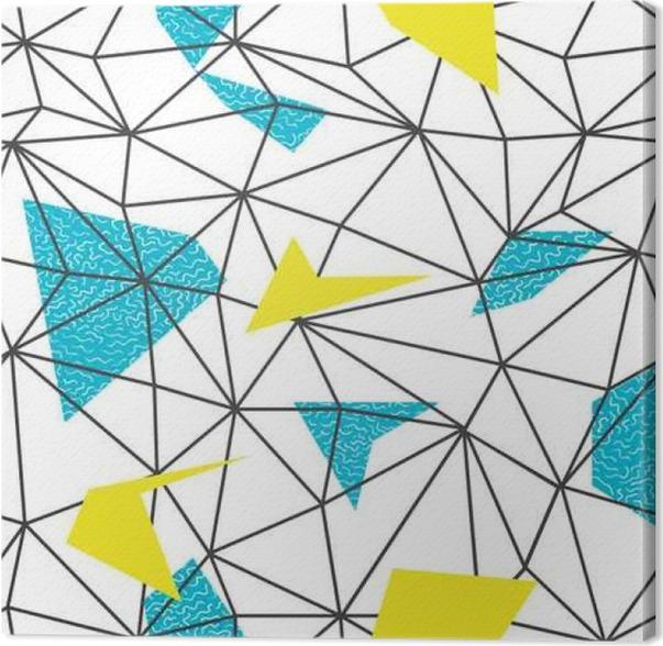 Cuadro en Lienzo Triángulos alambre marco patrón de repetición sin ...