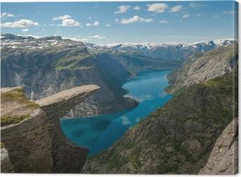 Cuadro en Lienzo Trolltunga, rock lengua troll, Noruega