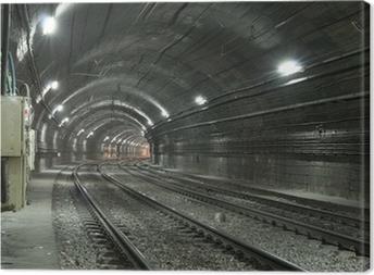 Cuadro en Lienzo Túnel del metro vacío