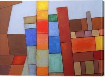 Cuadro en Lienzo Un Collage abstracto pintado