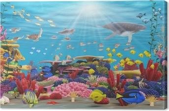 Cuadro en Lienzo Underwater paraíso