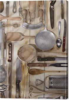 Cuadro en Lienzo Utensilios de cocina