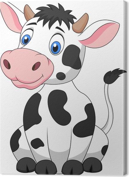 Cuadro en Lienzo Vaca linda sesión de dibujos animados • Pixers ...