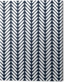 Cuadro en Lienzo Vector de patrones sin fisuras clásico de espiga