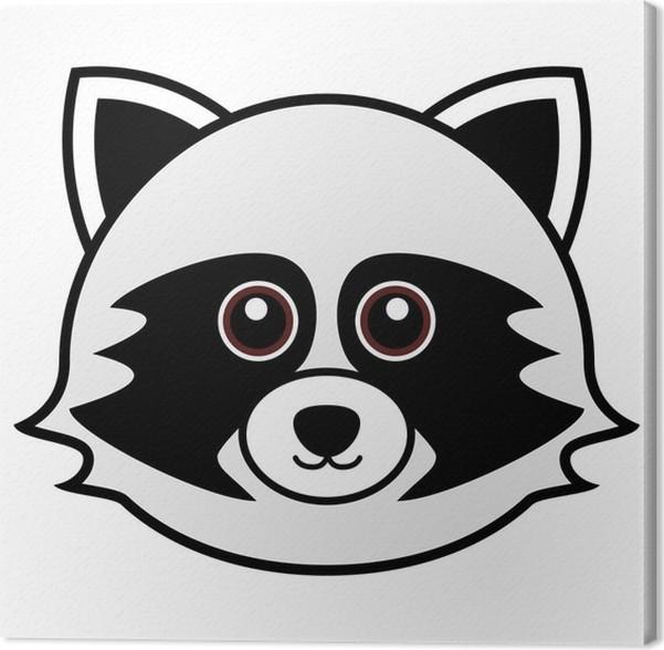 Cuadro en Lienzo Vector lindo del mapache • Pixers® - Vivimos para ...