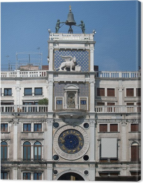 Cuadro en Lienzo Venecia, Torre del Reloj - torre del reloj de San ...