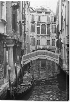 Cuadro en Lienzo Venecia vista en blanco y negro