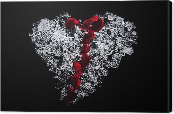 Cuadro en Lienzo Vidrio corazón roto • Pixers® - Vivimos para cambiar