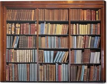 Cuadro en Lienzo Vieja estantería de la biblioteca