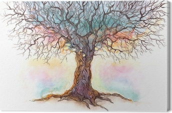 Cuadro en Lienzo Viejo árbol (serie C)