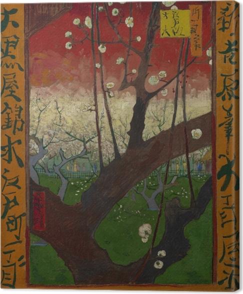 Cuadro en Lienzo Vincent van Gogh - Árbol de ciruelo floreciente - Reproductions