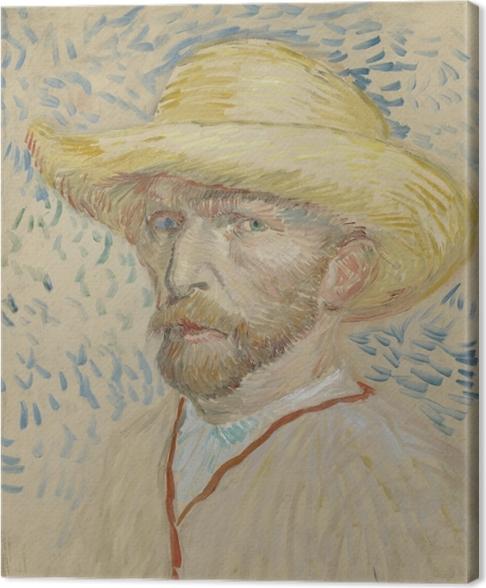 546b5752bd26f Cuadro en Lienzo Vincent van Gogh - Autorretrato con sombrero de paja y el  delantal del