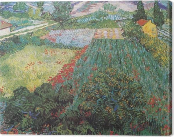 Cuadro en Lienzo Vincent van Gogh - Campo con las amapolas - Reproductions
