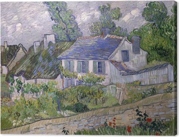 Cuadro en Lienzo Vincent van Gogh - Casas en Auvers - Reproductions