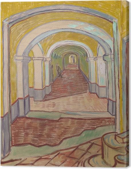 Cuadro en Lienzo Vincent van Gogh - Corredor en el asilo - Reproductions