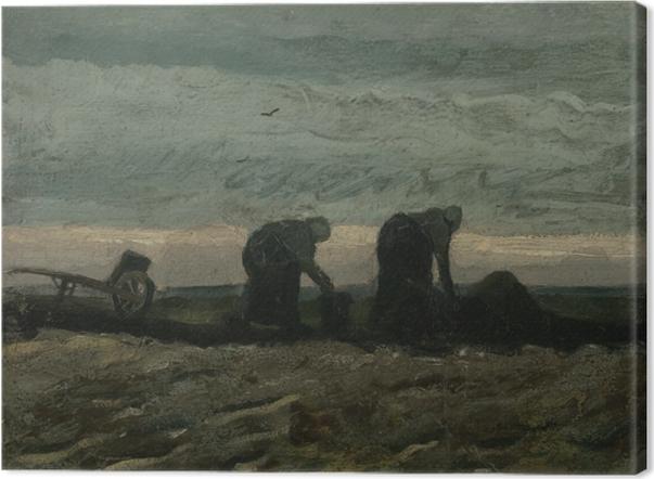 Cuadro en Lienzo Vincent van Gogh - Dos mujeres en el moro - Reproductions