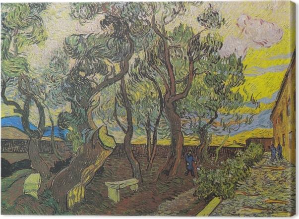 Cuadro en Lienzo Vincent van Gogh - El Jardín del hospital de Saint Paul - Reproductions