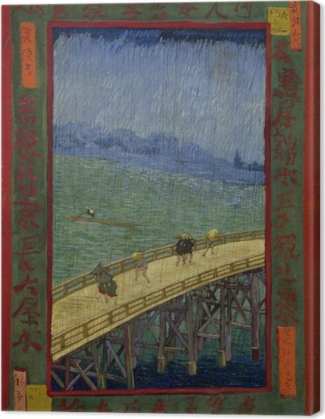 Cuadro en Lienzo Vincent van Gogh - El puente en Regen - Reproductions