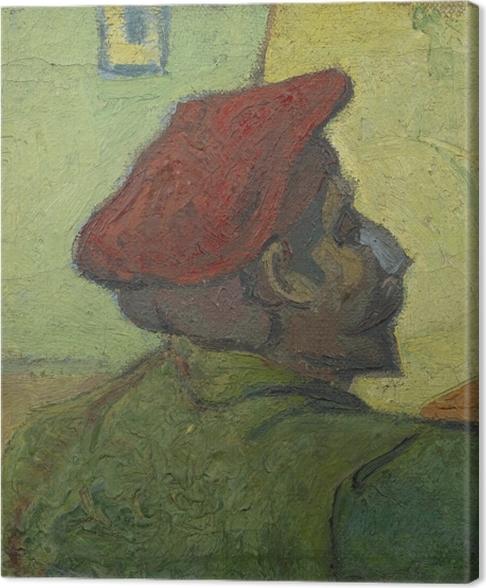 Cuadro en Lienzo Vincent van Gogh - Hombre con sombrero rojo - Reproductions