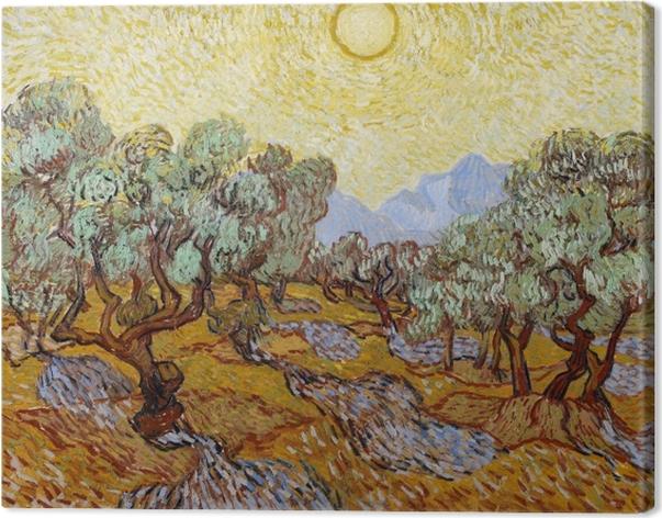 Cuadro en Lienzo Vincent van Gogh - Jardín de olivos - Reproductions