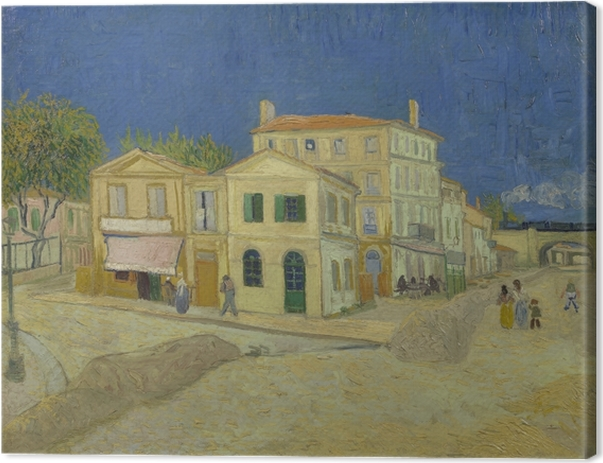 Cuadro en Lienzo Vincent van Gogh - La casa amarilla - Reproductions