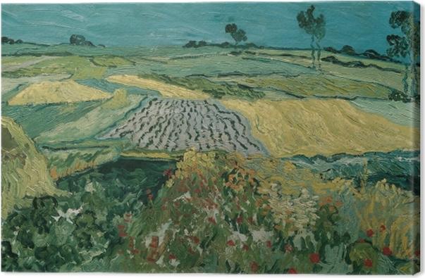 Cuadro en Lienzo Vincent van Gogh - Los campos en Auvers - Reproductions
