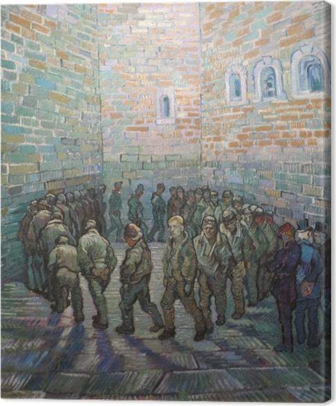 Cuadro en Lienzo Vincent van Gogh - Los presos en el patio - Reproductions