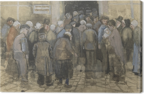 Cuadro en Lienzo Vincent van Gogh - Mal hacer cola para el dinero - Reproductions