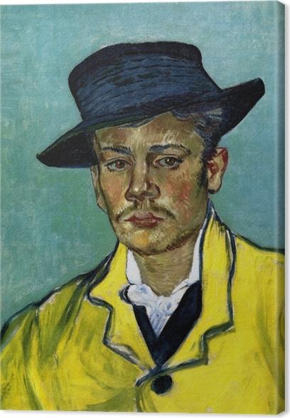 Cuadro en Lienzo Vincent van Gogh - Retrato de un hombre joven (Armand Roulin) - Reproductions