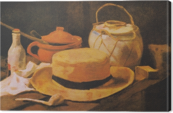 Cuadro en Lienzo Vincent van Gogh - Todavía vida con el sombrero de paja amarilla - Reproductions