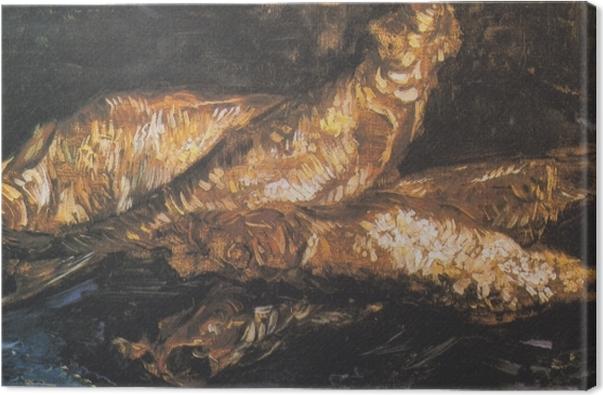 Cuadro en Lienzo Vincent van Gogh - Todavía vida con los arenques ahumados - Reproductions
