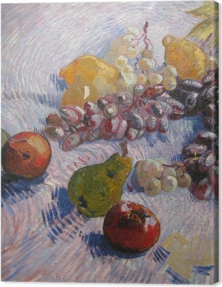 Cuadro en Lienzo Vincent van Gogh - Uvas, limones, peras y manzanas - Reproductions