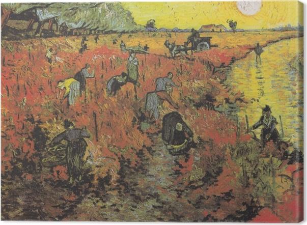 Cuadro en Lienzo Vincent van Gogh - Viñedos rojos en Arles - Reproductions