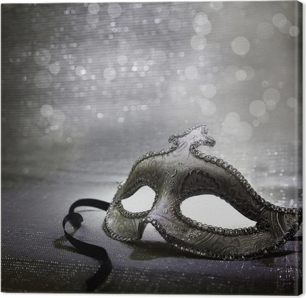 Cuadro en Lienzo Vintage máscara de carnaval veneciano • Pixers ...