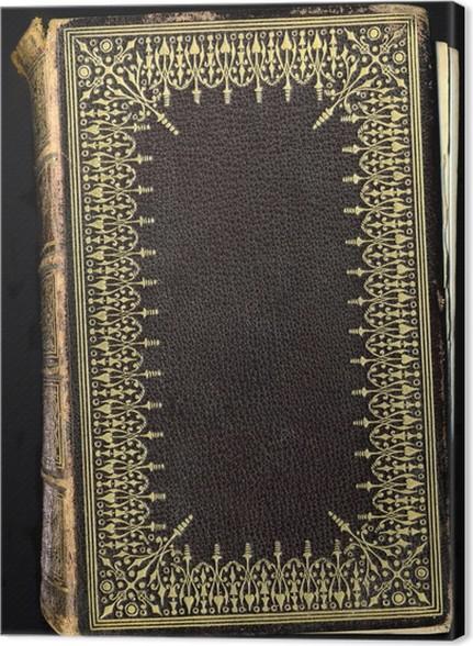 Cuadro en Lienzo Vintage textura de cuero del libro con el marco ...