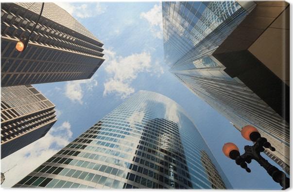 Cuadro en Lienzo Vista ascendente de los rascacielos de Chicago ...