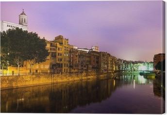 Cuadro en Lienzo Vista nocturna del de Girona