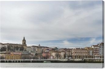 Cuadro en Lienzo Vistas panorámicas del pueblo de Portugalete en Bizkaia, Countr Vasco